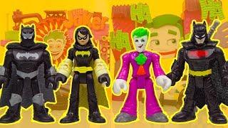 JOKER becomes BATMAN with BLACK BAT! imagext superhero toys