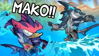 Mako Joins Brawlhalla! • All Skins + 1v1 Gameplay • First Impressions!