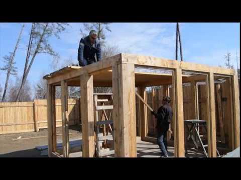 Деревянная каркасно-модульная баня ДКМ