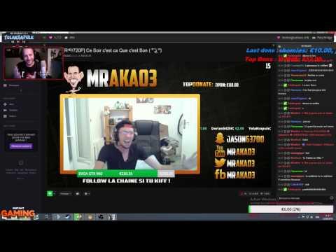 Raid MrAka03 en stream KARAOKE