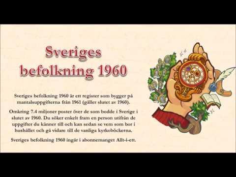Sveriges befolkning 1960 med berättarröst