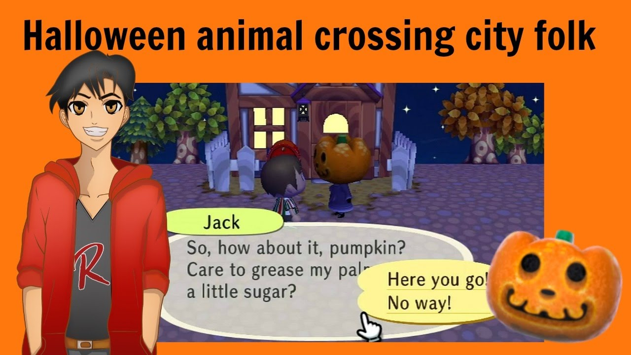 halloween animal crossing city folk youtube - Halloween Animal Crossing City Folk