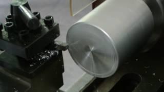 เริ่มงานกลึงปาดหน้าด้วยเครื่องกลึงขนาดเล็กรุ่น SL-300X2