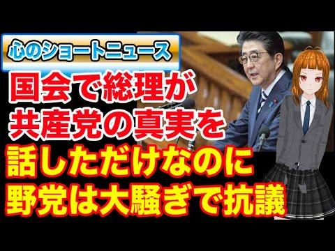 国会で総理が共産党の真実を話しただけなのに野党は大騒ぎ!!