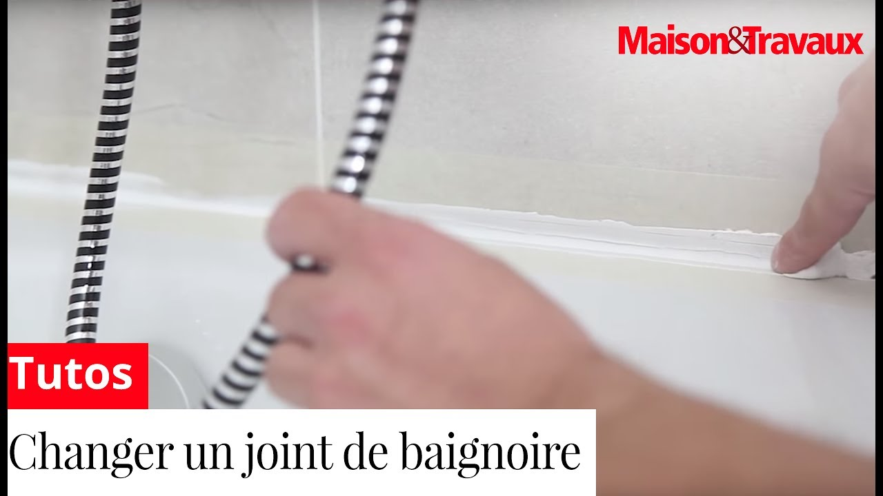 comment changer un joint de baignoire youtube. Black Bedroom Furniture Sets. Home Design Ideas