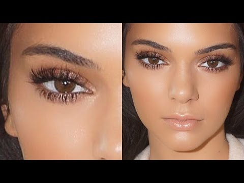 Natural looking makeup for brown eyes