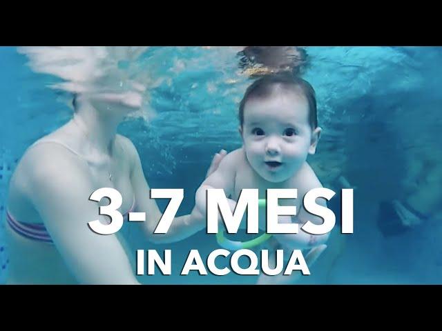 Nuoto Bimbi dai 3 ai 7 mesi || Acquaticità neonatale || Bambini in piscina
