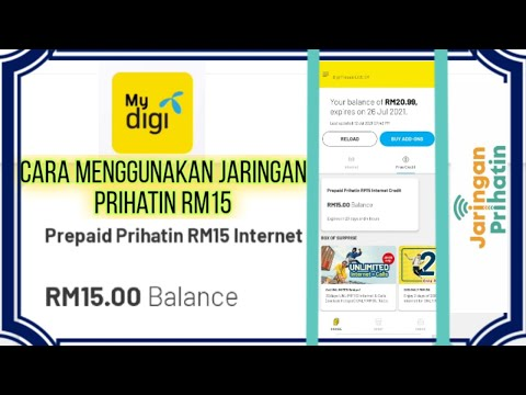 Cara Menggunakan Prepaid Prihatin Rm15 Internet Credit   My Digi