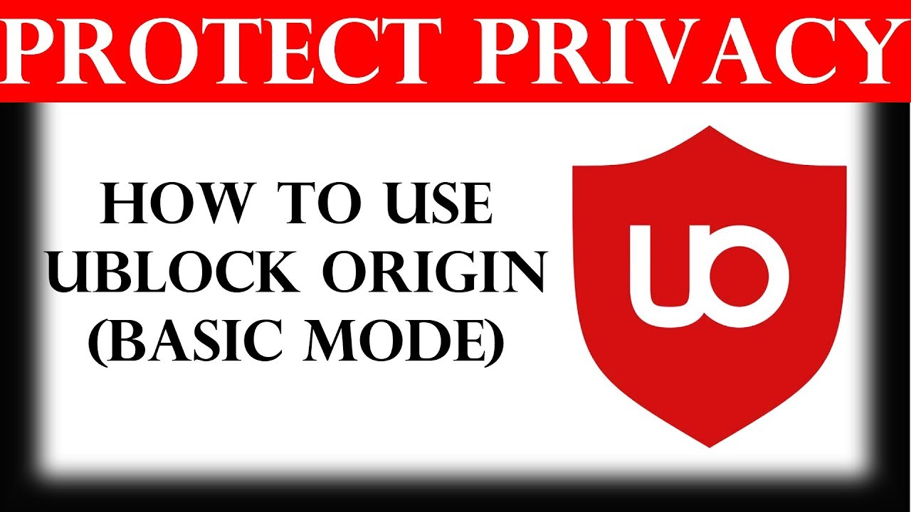 How to use uBlock Origin (Basic mode)
