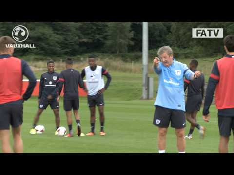 EXCLUSIVE: Roy Hodgson takes England-U21 training