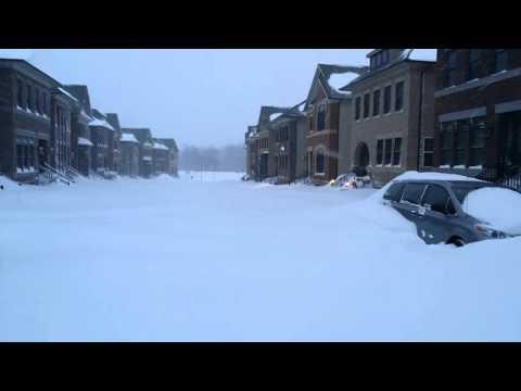 Record Snowfall in Ashburn, VA, January 23, 2016