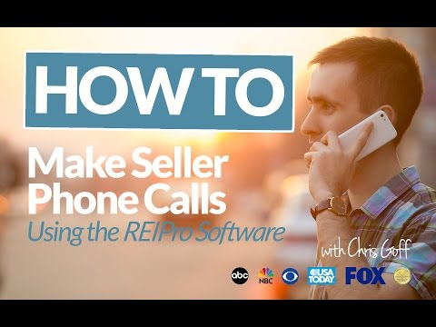 How to Make Seller Phone Calls using REIPro Real Estate Investing Software