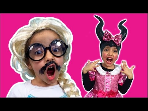 Elsa Vs Maleficent Real Life Disney Princess Movie + CHOCOLATE BALLS CHALLENGE Kids Video! Candy!