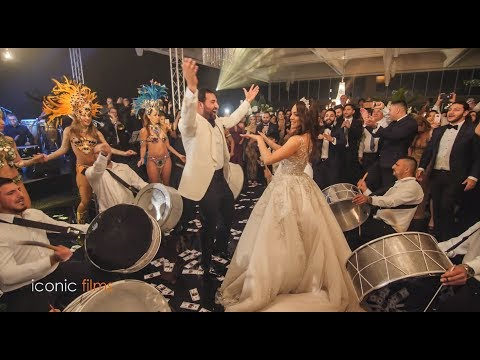 Lebanese Wedding Entry with Brazilian Dancers and Drums!