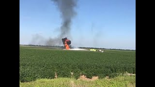 Raw: Fatal Military Plane Crash in Mississippi