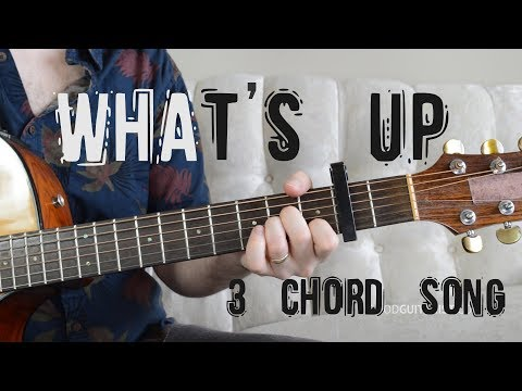 """What's Going On"" Guitar Tutorial - 3 Chord Song! 