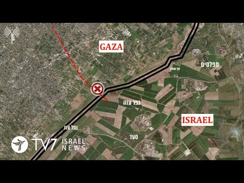 IDF locates and destroys 'terror tunnel' from Gaza into Israeli territory - TV7 Israel News 16.04.18