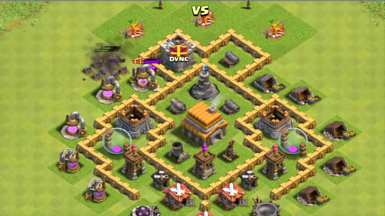 Best clash of clans th5 base layout defense 2015 youtube