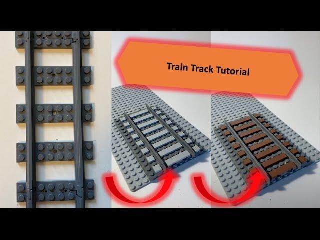 LEGO Train Track Tutorial [Straight]