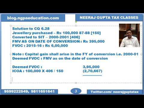 Conversion of Capital asset into Stock in trade - Section 45(2)