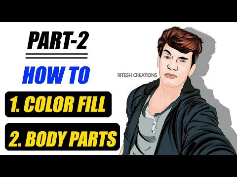 [ Hindi ] How to Make and Color Body parts in Vector Art in Infinite Design App || Infinite Design