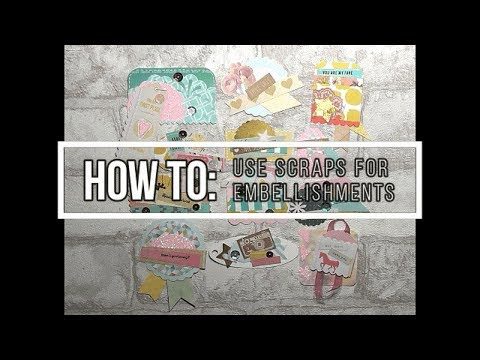 How to use paper scraps for embellishments - Papercrafts