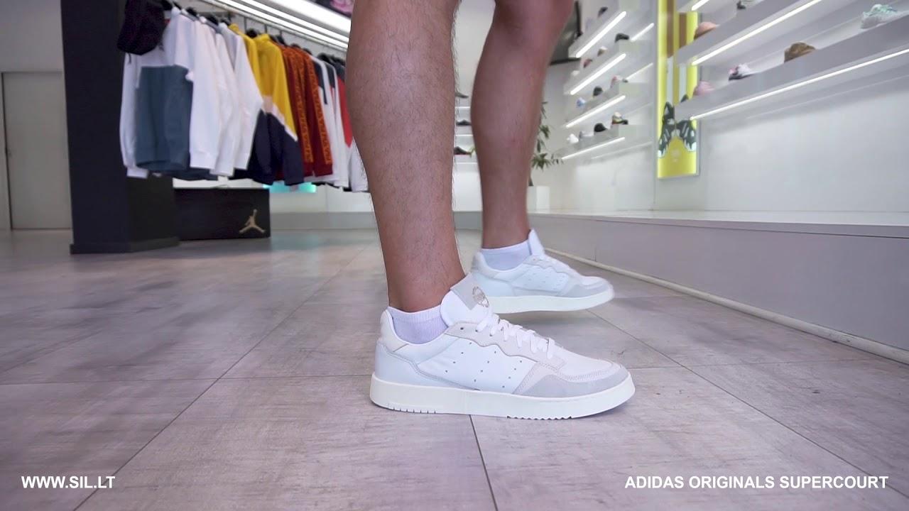 adidas supercourt on feet