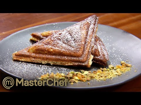 How To Make A Delicious Jaffle In 45 Mins! | MasterChef Australia