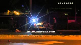 Traffic Collision Person Trapped / Pomona   RAW FOOTAGE