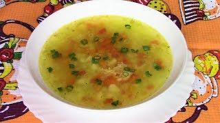 Ароматный, наваристый и очень вкусный суп с вермишелью. Постный вермишелевый суп.