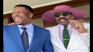 Steve Harvey Clowns Around With Chris Tucker At Kentucky Derby