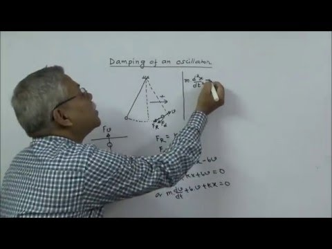IIT-JEE Physics Damped Oscillation Lecture by Subhasish Pathak