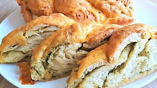 Очень Вкусный Чесночный Пирог с Сыром и Зеленью. Пирог с Сыром, Зеленью и Чесноком.