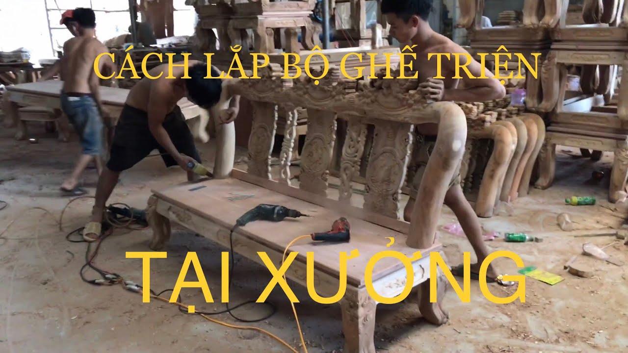 Cách làm bộ Ghế Triện(MINH QUỐC) sản xuất tại XƯỞNG – LÀNG NGHỀ ĐỒ GỖ HỐ NAI