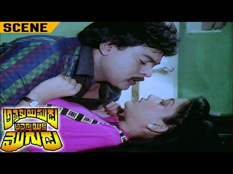 Chiranjeevi Seducing Vijayasanthi in Women Hostel | Attaku Yamudu Ammayiki Mogudu Movie
