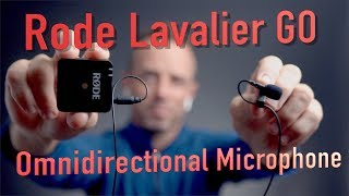 Rode Lavalier GO Omnidirectional Microphone for Wireless GO Systems audio test