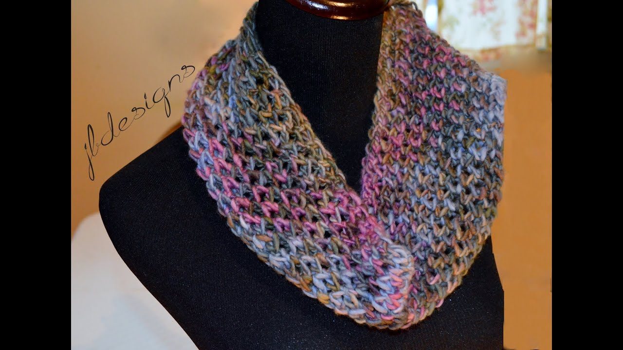 Loom Knit Modified Diamond Lace Scarf - YouTube