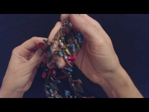ASMR ~ Clinking Glass Bead Necklace Show & Tell (Whisper)