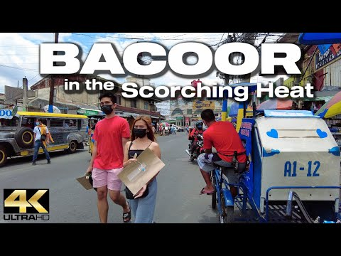 The Scorching Heat in BACOOR Cavite Philippines - [4K]