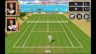 World of Tennis: Roaring '20s - baseline and lob/smash tennis gameplay on iOS and Android