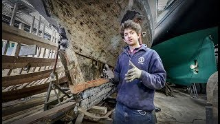 Laminating timbers into an old yacht / Cornish Projects - Rebuilding Tally Ho EP16
