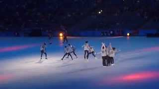 140919 EXO - Wolf + Talk - Asian Games Opening Ceremony [FANCAM]
