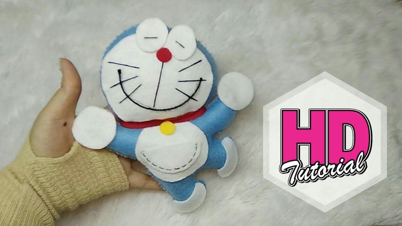 Diy Cara Membuat Boneka Doraemon Flanel Hd Tutorial