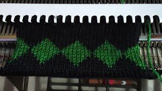 Two color design in knitting machine #2 (दो कलर का  डिजाइन #2)