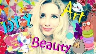Трейлер канала Лайки-NEWS DIY Art Beauty Back to school Путеводитель по каналу Кристина Санько