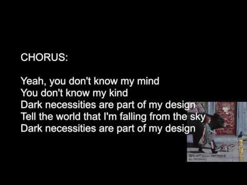 Dark Necessities - Red Hot Chili Peppers [ LYRICS VIDEO ]