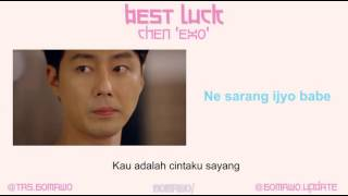 CHEN - BEST LUCK (Ost. It's Okay, It's Love) [MV, EASY LYRIC, LIRIK INDONESIA]