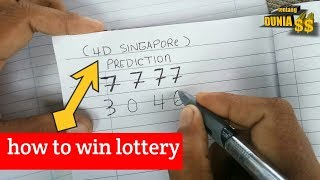 4digit lottery - singapore prediction how to win lottery using (7777) formula