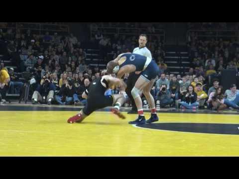 133 lbs Cory Clark, Iowa vs George Carpenter, Penn State