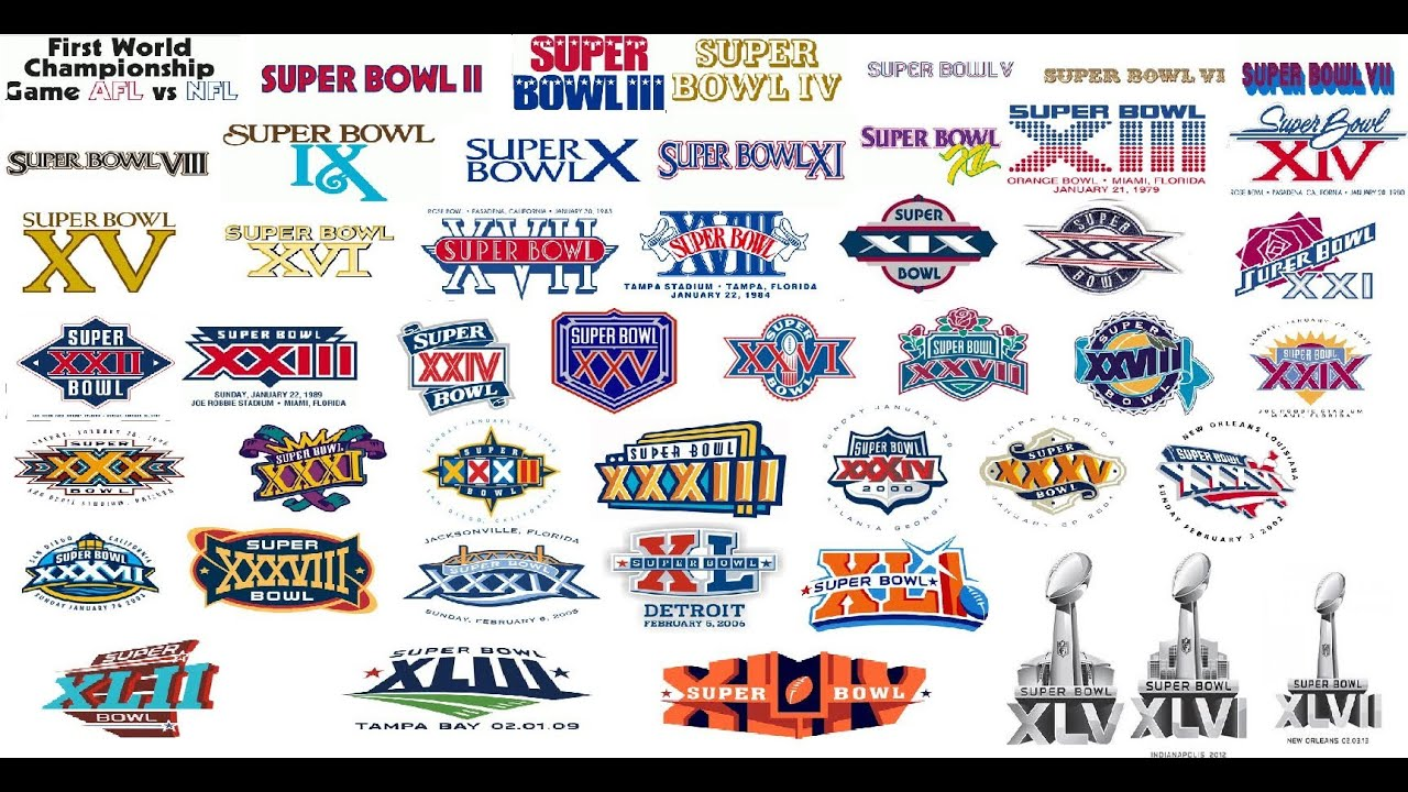 Super Bowls 1 47 With Scores Youtube